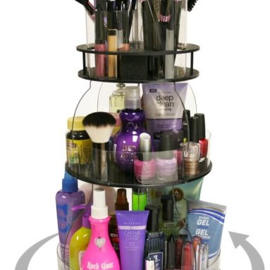 Makeup Cosmetic Organizer with 4 Tube Holders