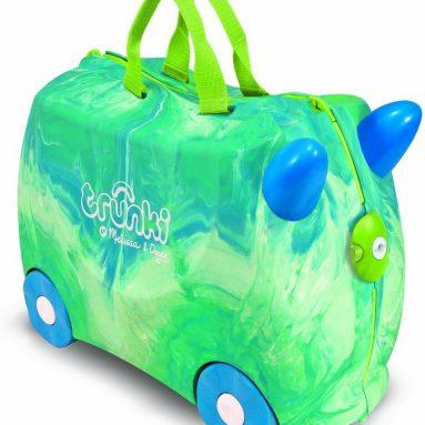 Melissa & Doug Tie-Dye Trunki Ride-on Suitcase for Kids