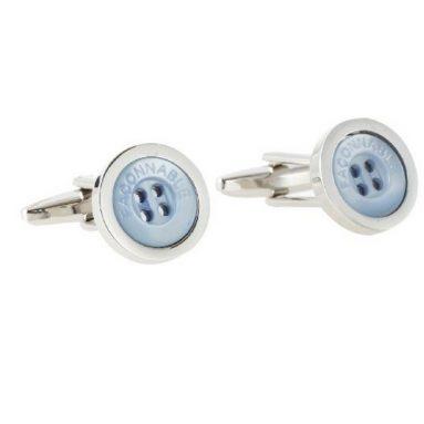 Mens Button Style Cufflinks