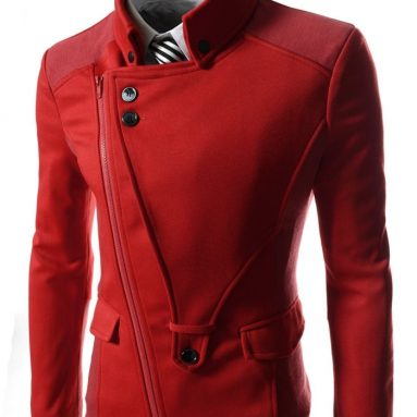 Mens Casual Rider Style Stretchy Slim Zipper Jacket Jumper