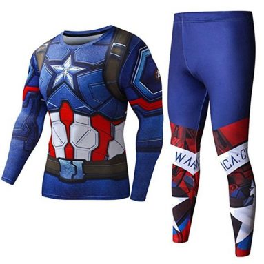 Men's Compression Pants Tights Superman Ironman workout Shirts