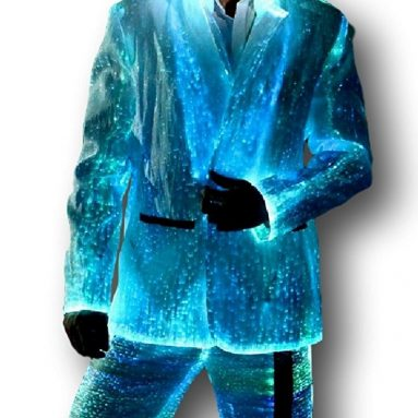 Men's Fiber Optic Light up Suit Jacket and Pants