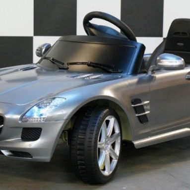 Mercedes SLS AMG Gray pedal car, children s toys