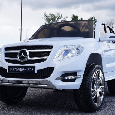 Mercedes White GLK 12V Ride-on Car for kids with Remote Control