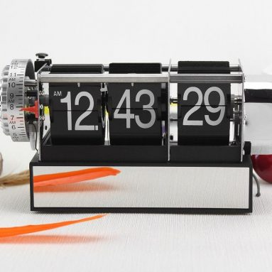 Metal Flip Down Desk Clock Creative Small Alarm Clock