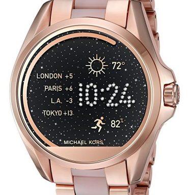 Michael Kors Access Touch Screen Rose Gold Acetate Bradshaw Smartwatch