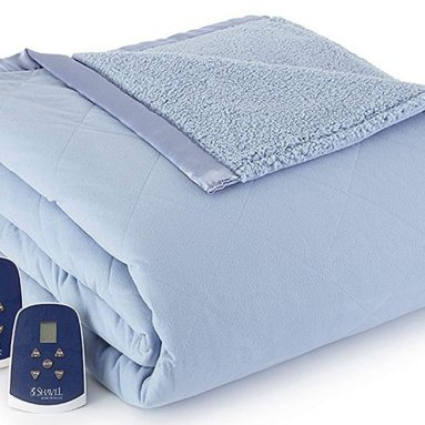Micro Flannel Reversible Sherpa Electric Heated Blanket
