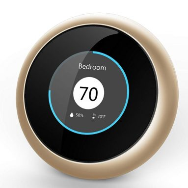 Micronature Deep Learning A.I. Enhanced Thermostat, Gold, Compatible with Alexa