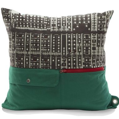 Mimish Storage Pockets and Exposed Zipper Naturalist Pillow