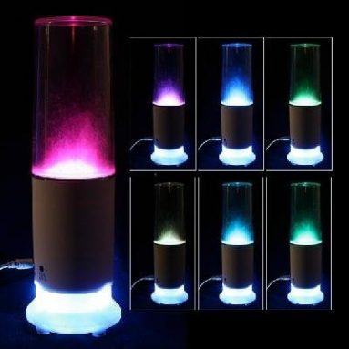 Mini USB Speaker LED Colorful Touch Sensor Water