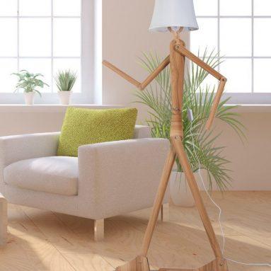 Modern Contemporary Decorative Wooden Floor Lamp Light