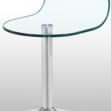 Modern Curved Glass End Table