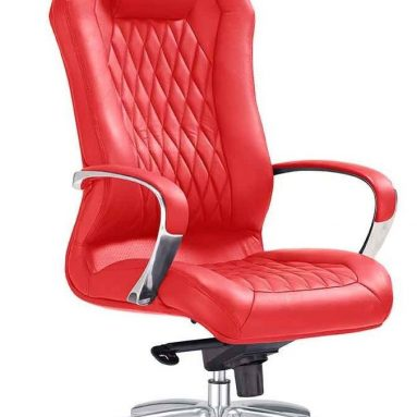 Modern Ergonomic Sterling Leather Executive Chair