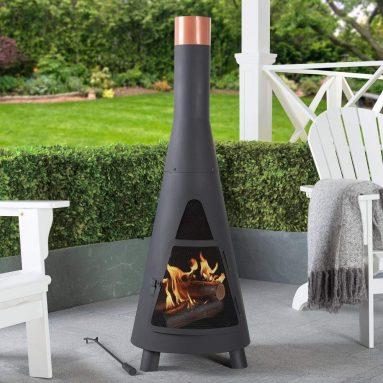 Modern Wood Burning Steel Chiminea