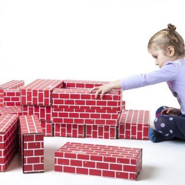 Mondo Bloxx 40 Pack Cardboard Block Brick Set