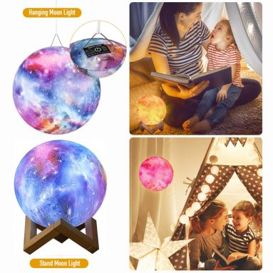 3D Starry Moon Night Light Lamp