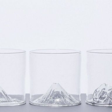 Mountain Topography Inspired Whiskey Glasses