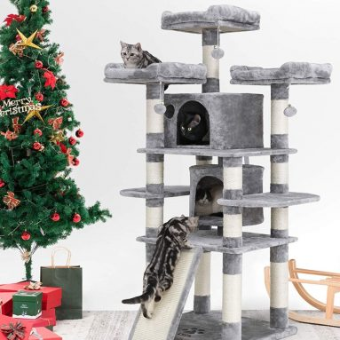 Multi-Level Cat Tree with Sisal-Covered Scratcher Slope