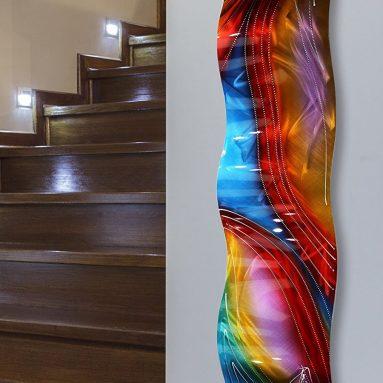 Multicolor Contemporary Metal Wall Art Sculpture