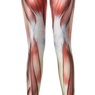 Muscle Print Leggings One Size