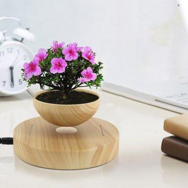 Naimo LED Magnetic Levitation Suspension Flower Pot
