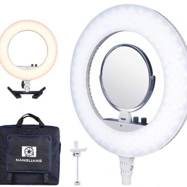 Dimmable Adjustable Bicolor LED Ring Light Desktop Kit