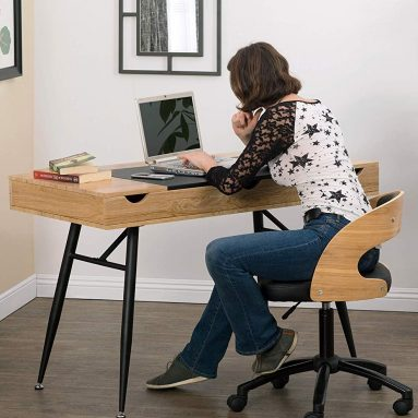 Nook Modern Desk with Multi Soft-Close Storage Compartments