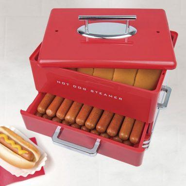 Nostalgia Diner Style Hot Dog Steamer