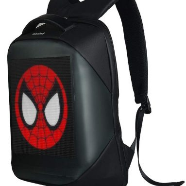 Novelty Smart LED Backpack Fashion Black Customizable Laptop Backpack