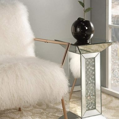 Nysa Mirrored Pedestal Stand