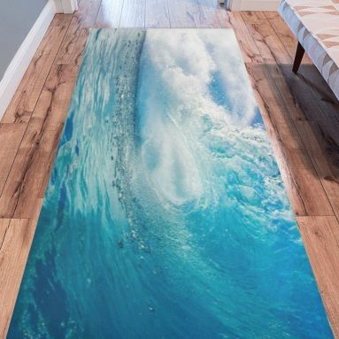 Ocean Heavy Waves Modern Area Rug