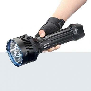 Olight X9R Marauder 25000 Lumen Six Cree XHP70.2 LED Super Bright Rechargeable Flashlight