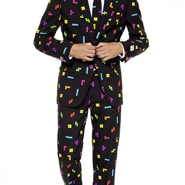 Opposuits Mens Tetris Suit and Tie