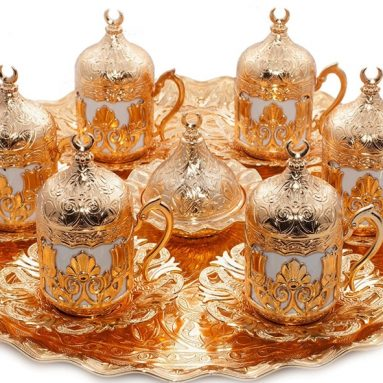 Ottoman Turkish Greek Arabic Coffee Espreso Serving Cup Saucer