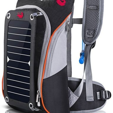 Outdoor Pack Commputer Solar Powered Backpack