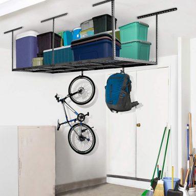 Overhead Garage Rack Add-on Hooks Set Heavy Duty Height Adjustable Ceiling Racks