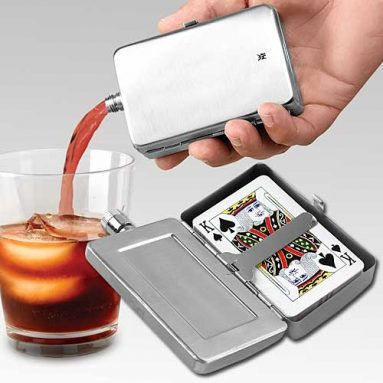 FLASK PLAYING CARDS