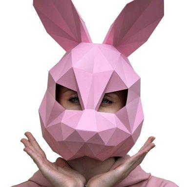 Paperraz DIY 3D Rabbit Mask Animal