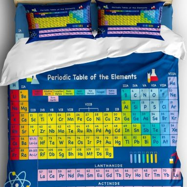 Periodic Table of The Elements Comforter Bedding Set