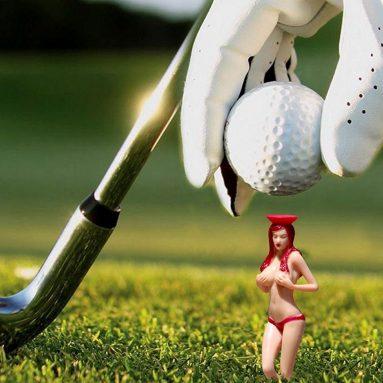 Perky Tees Pin-up Girl Golf Tee