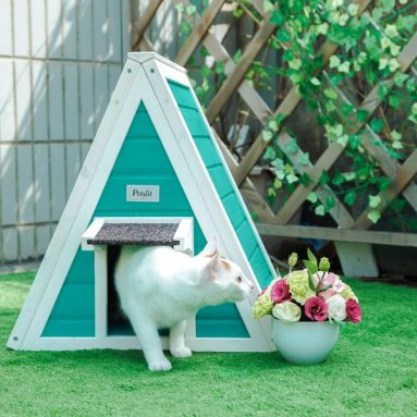 Petsfit Outdoor/Indoor Cat Shelter For Feral Cat