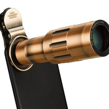Phone Lens 20X Zoom Telephoto Lens with Universal Clip and Mini Flexible Tripod