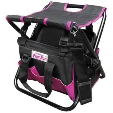 Pink Folding Tool Bag with Seat