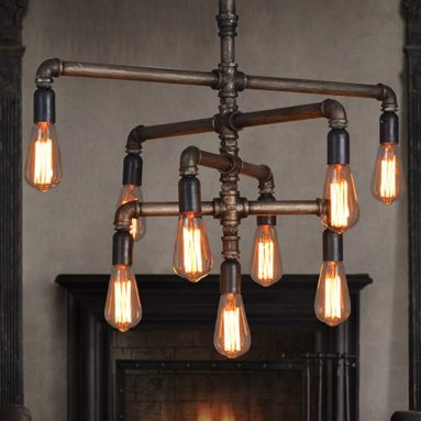 Pipe Chandeliers