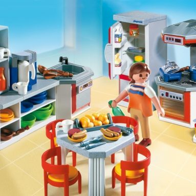 Playmobil Kitchen with Dinnette Set