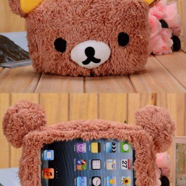 Plush Toy Cell Phone Case (iPad Mini, Brown Bear)