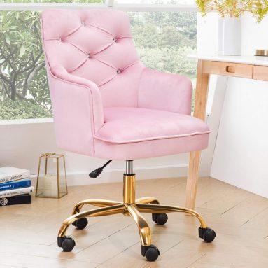 Plush Velvet Office Chair