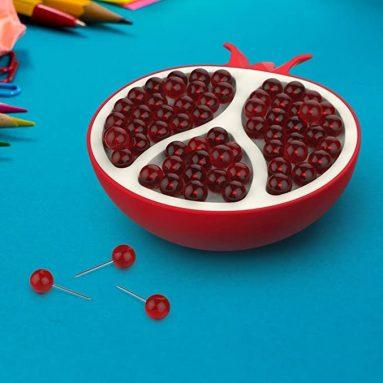 Pomegranate-Style Push Pin Holder