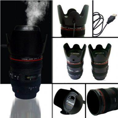 Portable Lens Cup USB Air Anion Humidifier Purifier Moist Diffuser