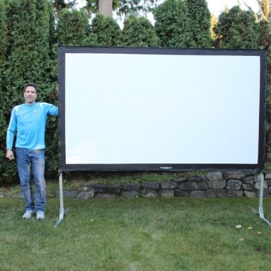 Portable indoor or outdoor movie theater projection screen
